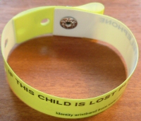 Identity wristbands for children aged 2 to adult (ID wrist bands / identification wristbands - child sized)