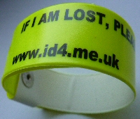 Children's identity wristbands