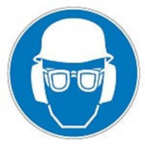 High visibility clothing, head protection and laboratory safety equipment.